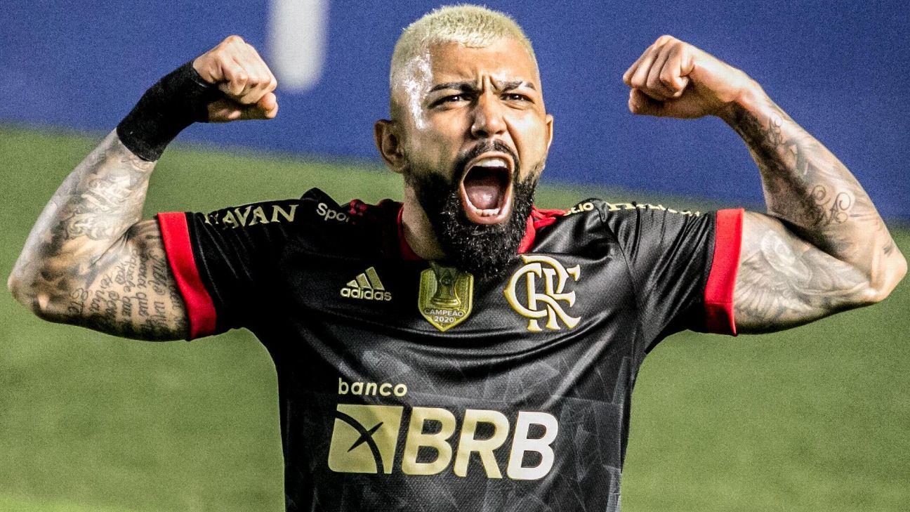 Gabigol celebra gol do Flamengo